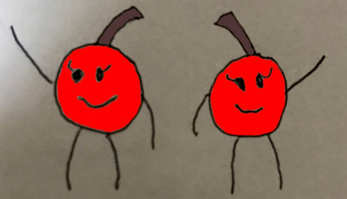 Art Trade: Two Cherries by BluePurpleBadger