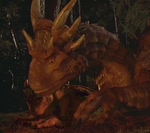 dragon humanoid face