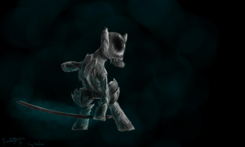 Warframe Fan Art Stalker Pony warframe by
