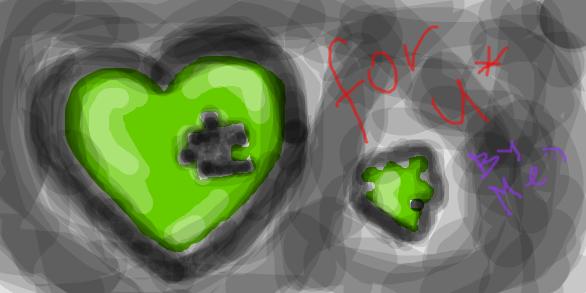 Green heart puzzle by Tsukiko-aka-Amaya