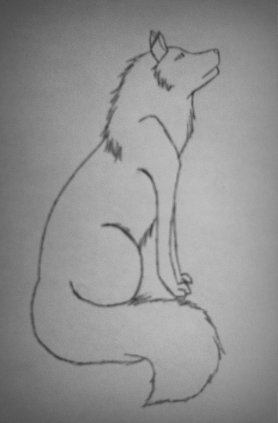 Howtodraw Sitting Wolf By Whoisthedeadone