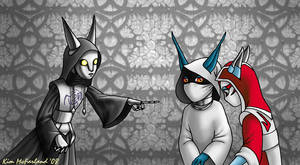 Silver, Sumi, and Cilice by Negaduck9