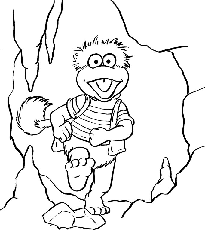 fragle rock coloring pages - photo#13