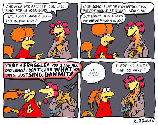 Fraggle comic: Minstrel Pains