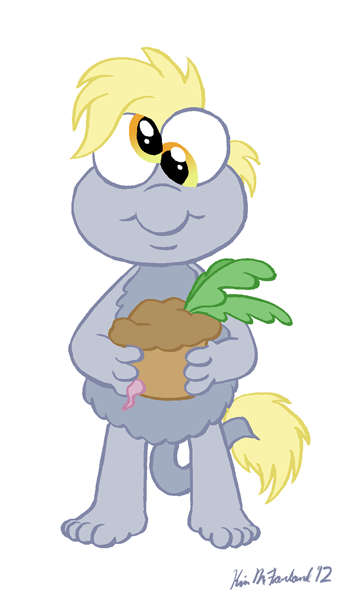 My Little Fraggle: Derpy Toes by Negaduck9