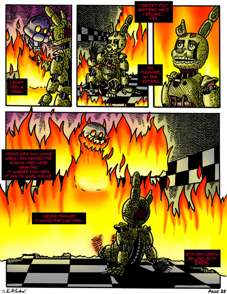 Fnaf requiem with a birthday cake page 28 by negaduck9 on deviantart