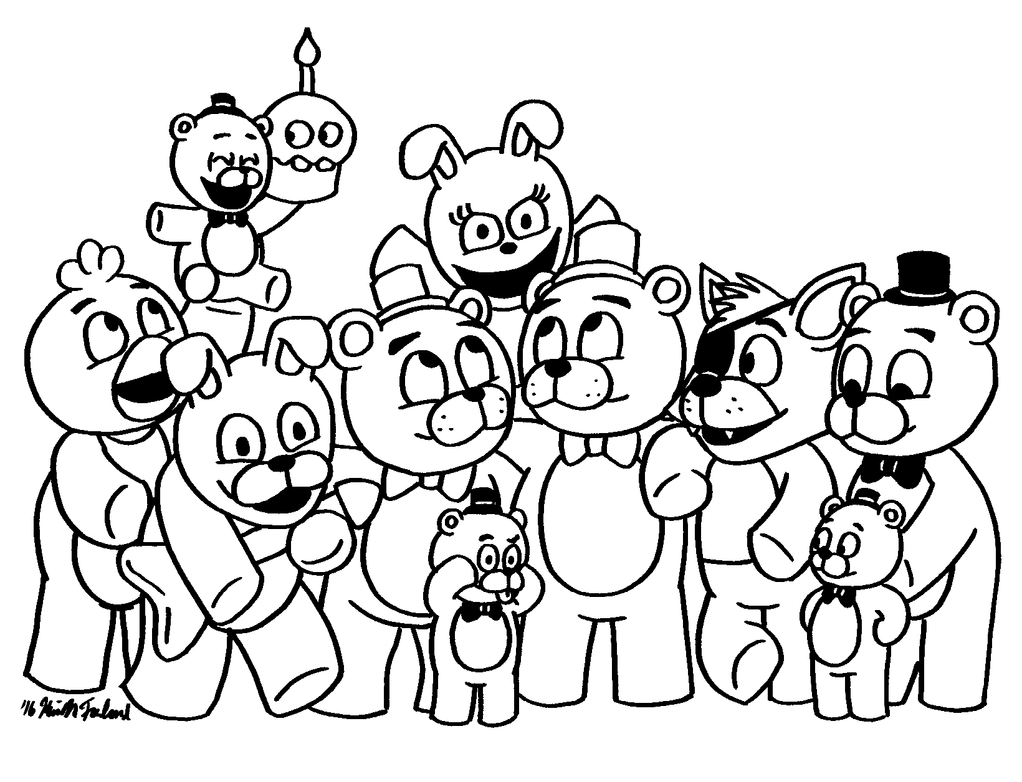 Fnaf sister location free coloring pages for Fnaf coloring pages nightmare