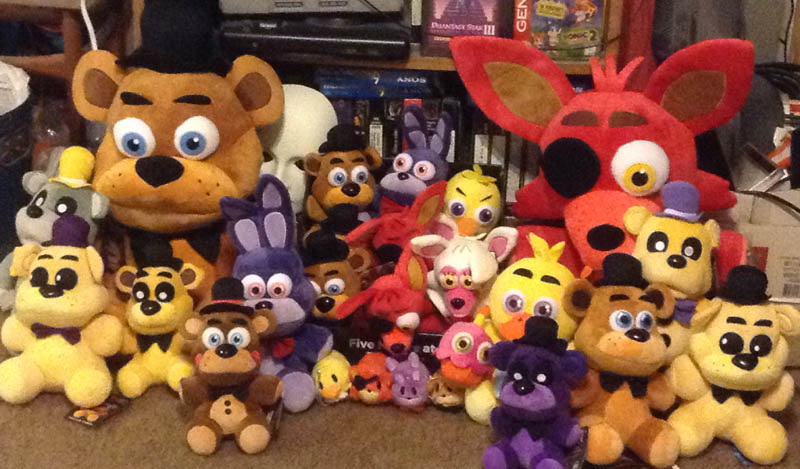 Fnaf the whole plush gang 2 by negaduck9 on deviantart