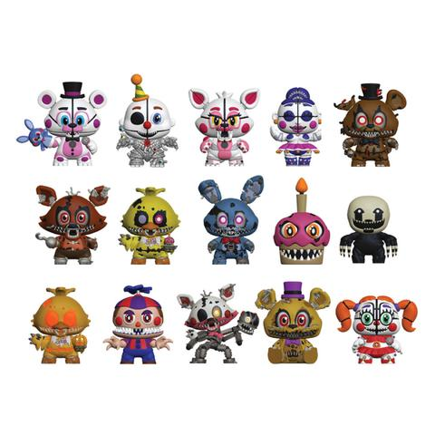 FNAF-MysteryMinis-Lineup large by Negaduck9