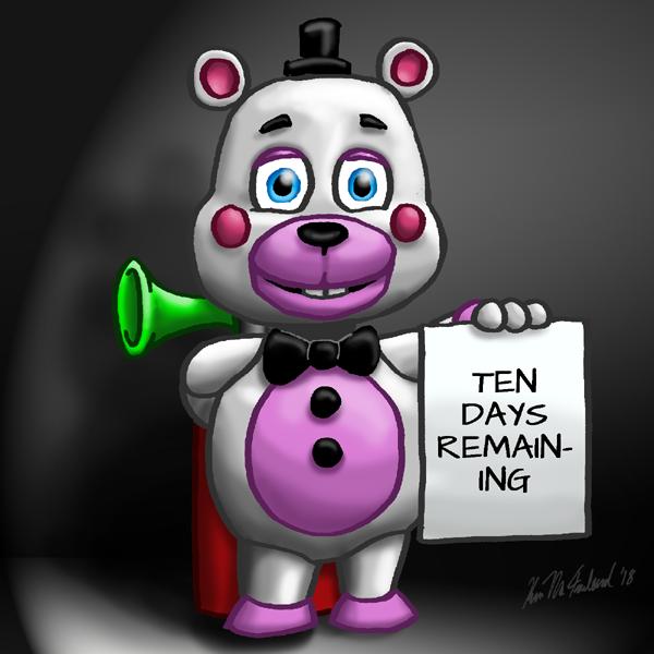 Ten days 'til Ultimate Custom Night by Negaduck9