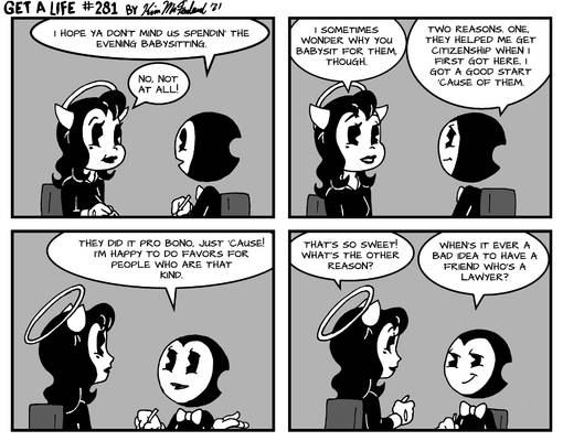 Bendy and Alice Angel in: Get a Life 281