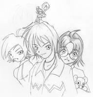 Dougal, Harry and Suichi by pchaos720