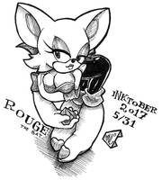 Inktober 2017 5/31 - Rouge the bat by pchaos720