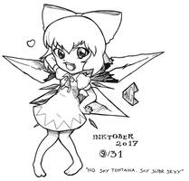 Inktober 2017 9/31 - Cirno, the sexiest by pchaos720