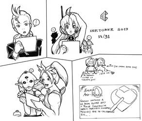 Inktober 2017 14/31 - AmyRouge wedding invitation by pchaos720