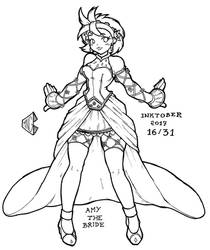 Inktober 2017 16/31 - Bride Human Amy by pchaos720