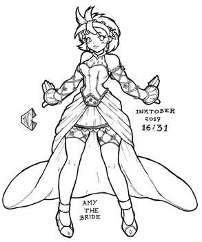 Inktober 2017 16/31 - Bride Human Amy