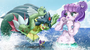 The Mermaid Battle by pchaos720