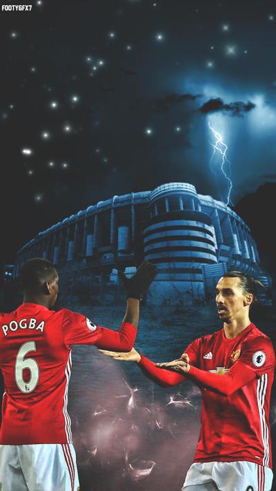Pogba and Ibrahimovi lockscreen  by FOOTYGFX7