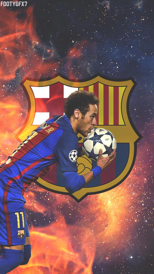 Neymar lockscreen by FOOTYGFX7