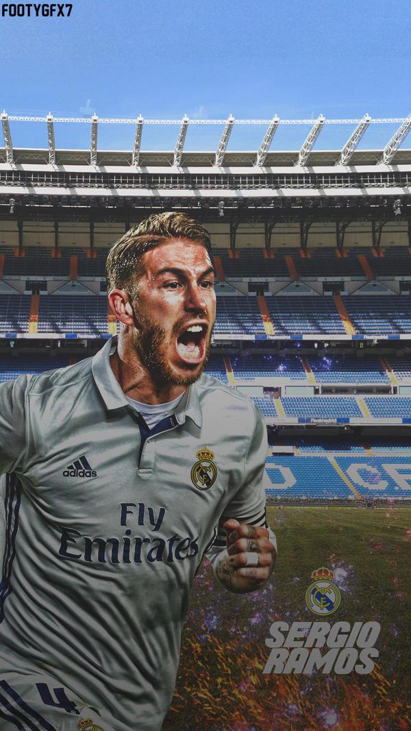 Sergio Ramos lockscreen  by FOOTYGFX7