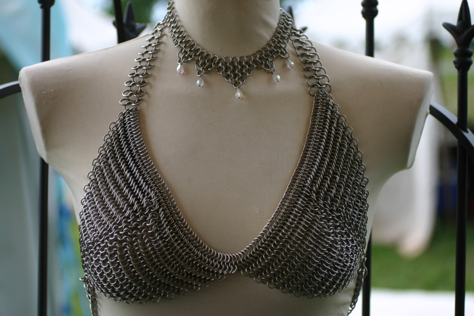 Chainmail Bikini And Necklace By Utopia-Armoury On DeviantArt