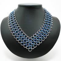 Blue Chevron Necklace by Utopia-Armoury
