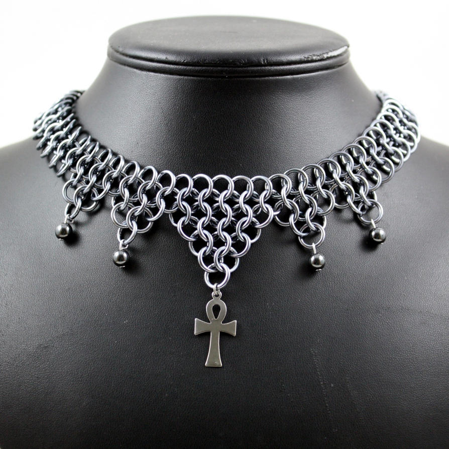 Hematite Ankh Necklace by Utopia-Armoury