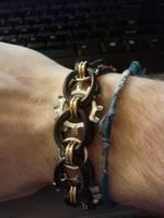 Stretchy Steampunk Bracelet by Utopia-Armoury