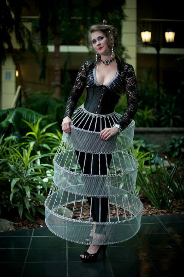 Amy in a Hoop Skirt
