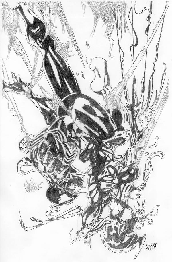 Spiderman Vs Carnage Drawings