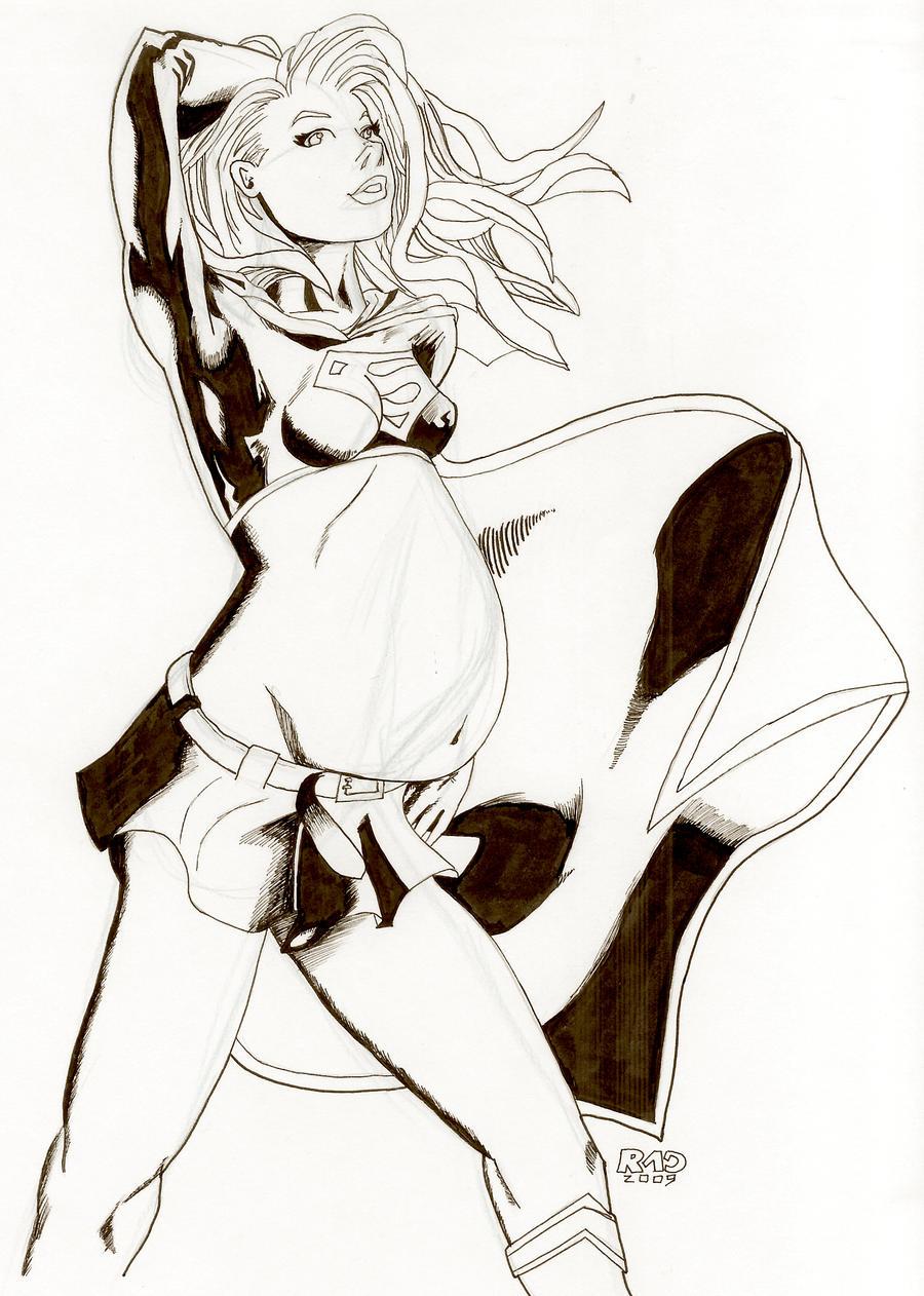 Preggo Supergirl by RadPencils