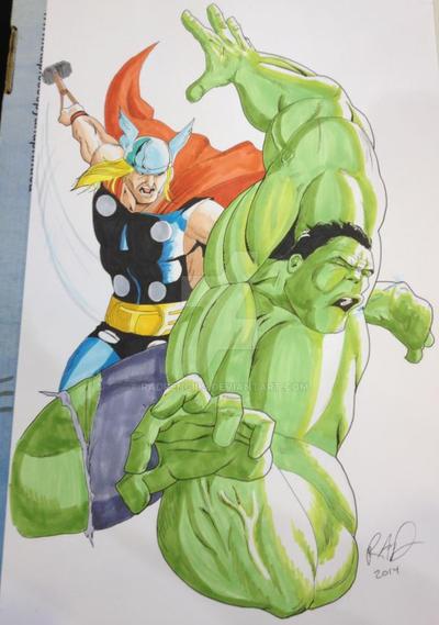 Thor VS Hulk Fan Expo Vancouver 2014 by RadPencils