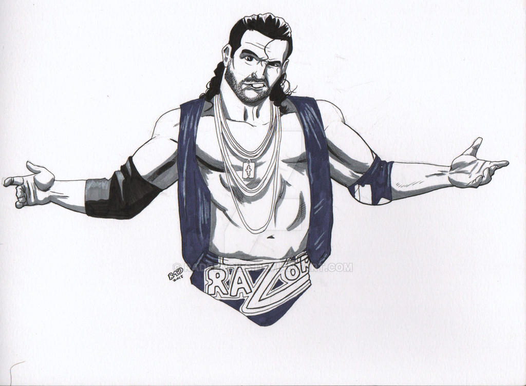 WWE Razor Ramon by RadPencils