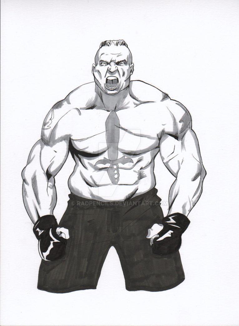WWE Brock Lesnar by RadPencils