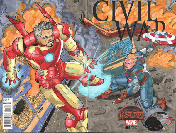 Civil War Blank Cover 2015 by RadPencils