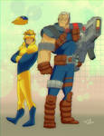 Booster Gold meets Cable