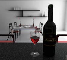 Kitchen Wine Bottle DOF by Cage-waRp