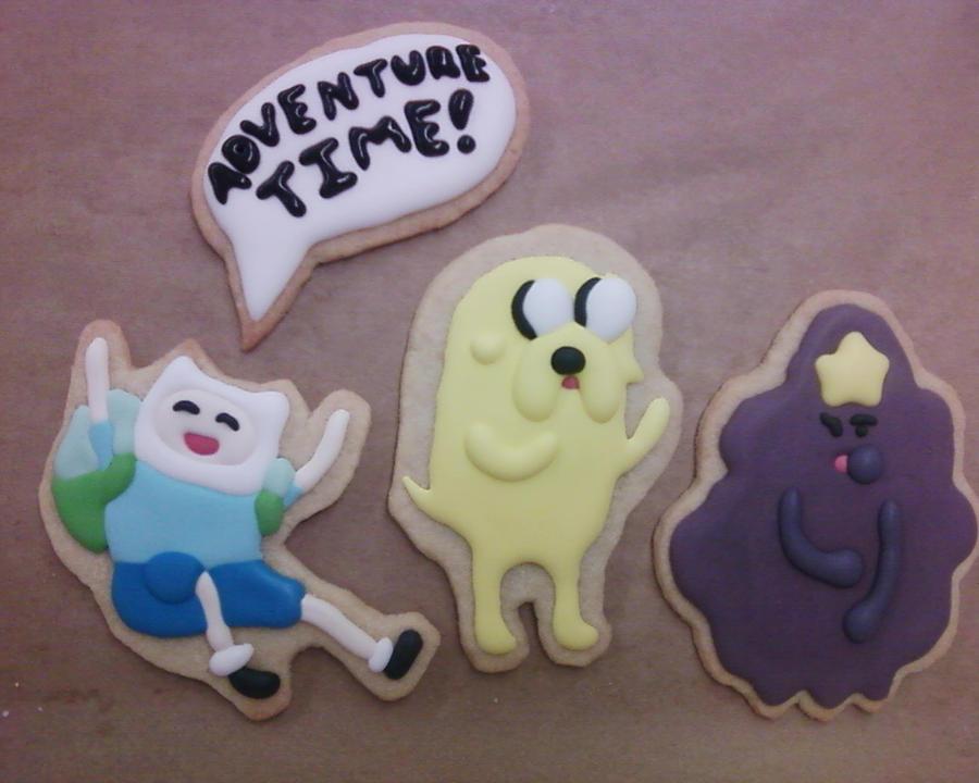 Adventure time cookies by shockiejuice