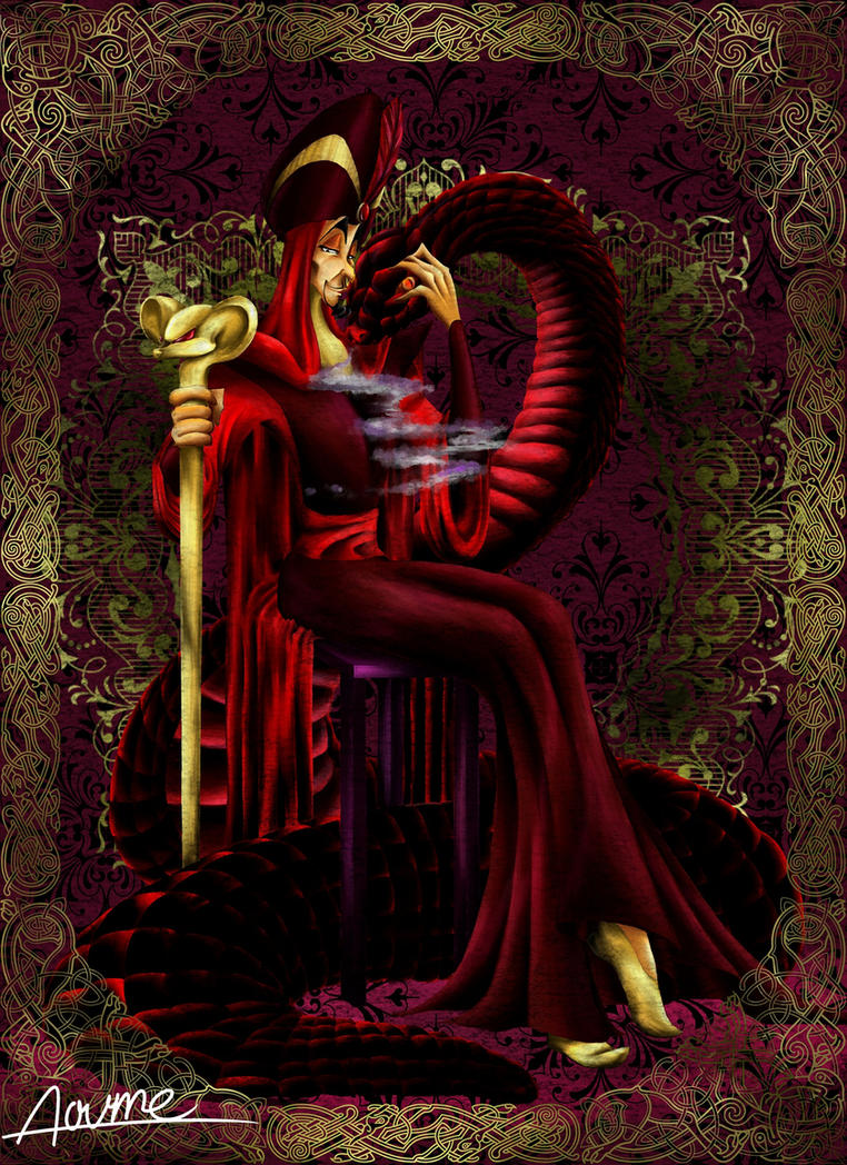 Jafar and snake by ao ume on deviantart - Serpent aladin ...