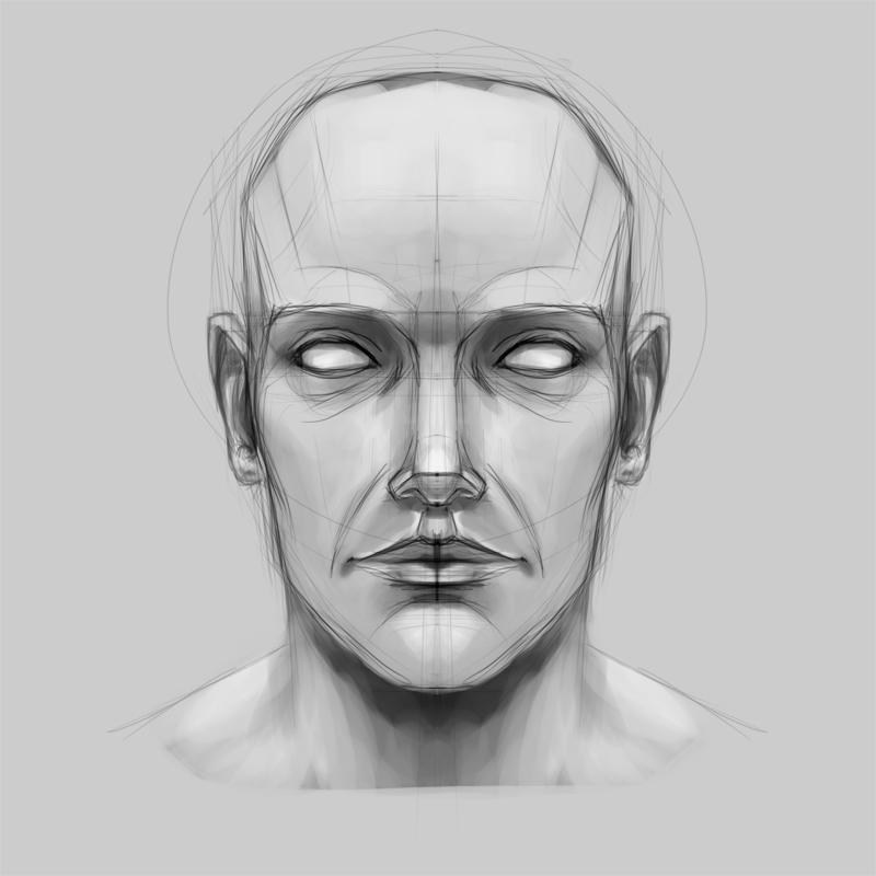 face sketch by franznacion on deviantart