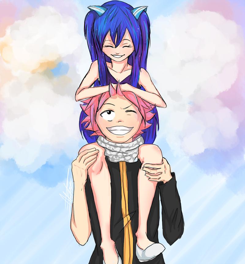 Natsu And Wendy By Antlers-sama On DeviantArt