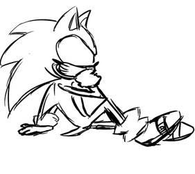 A little Sonic doodle by apcozero