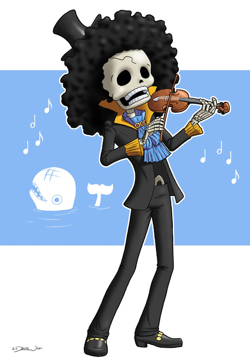 One Piece Chibi Brook One Piece : Brook by z...