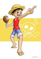 One Piece : Luffy by zedew
