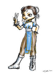 Chibi Chun-Li sketch by zedew