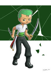 One Piece : Zoro by zedew