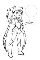 Chibi Sailor Moon : Sailor Moon sketch by zedew