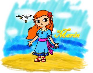 Marin Wind Waker Style by Nenilein
