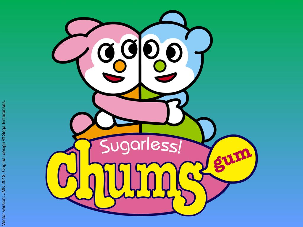 Chums Gum Logo - Vector Rendition